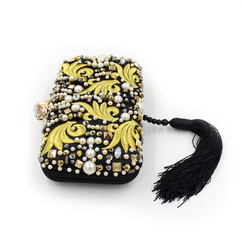Handbags Beaded Embroidery Tassel Bags Women Party Bag