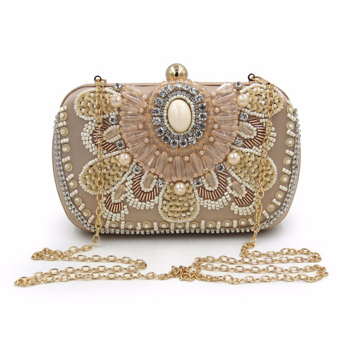 Women Clutch Bags Pearl Beaded Evening Bag Wholesale Bridal Wedding