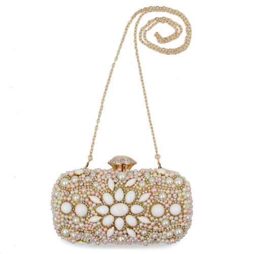 Women Wedding Clutch Bags Laides Beaded White Clutches Purses