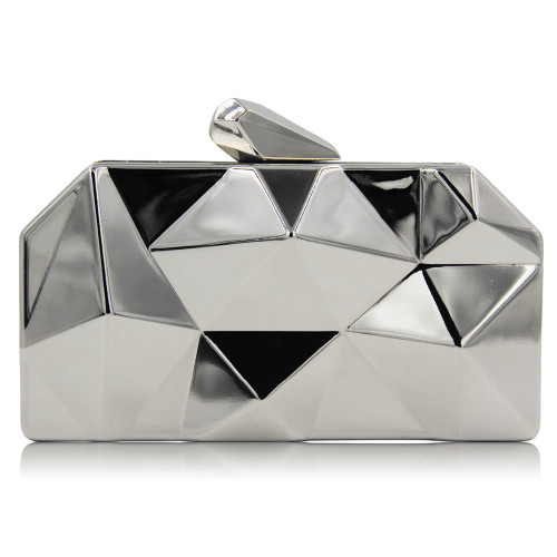 Party Black Evening Purse Silver Bags Gold Box Clutch
