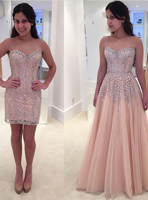 Gorgeous Beads Lace Formal Dresses Evening Dress Sleeveless Sweetheart