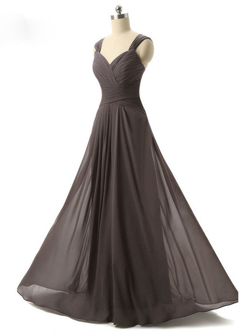 Cap Sleeve Simple Long Evening Dress Party Women Evening Gown
