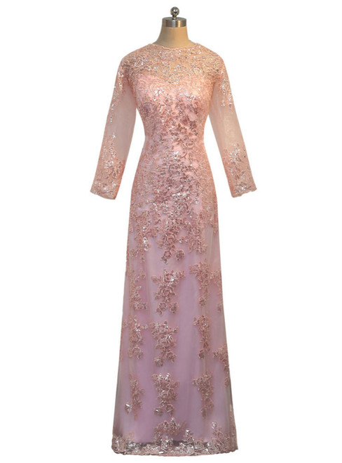 2017 Mother Of The Bride Dresses A-line Long Sleeves Appliques