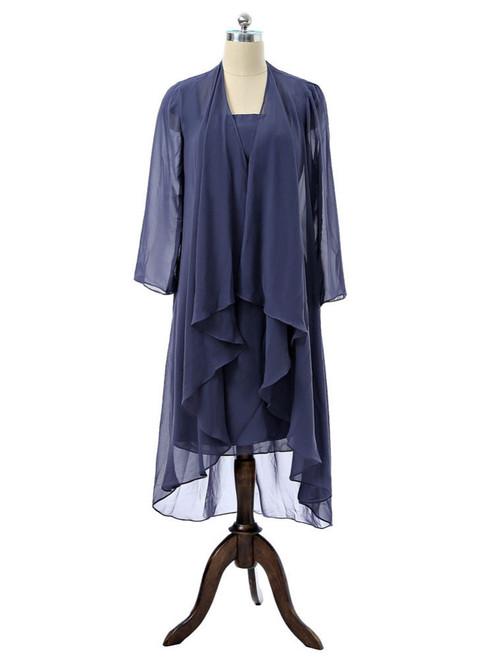 Sheath Chiffon Navy Blue 2017 Mother Of The Bride Dresses