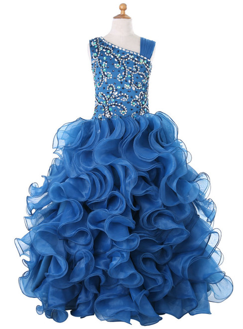 Ball Gown Organza Ruffles 2017 Girls Pageant Dresses For Weddings
