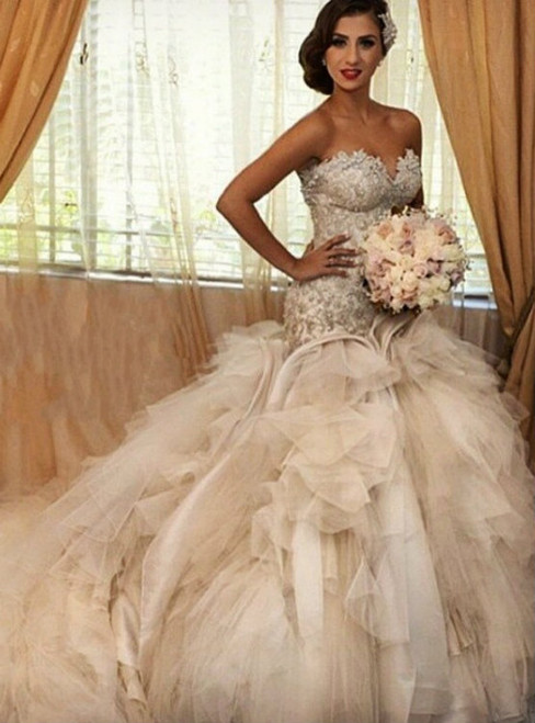 Mermaid Wedding Dresses,Off-the-Shoulder