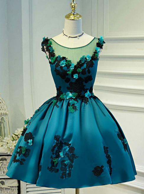 Chiffon Scoop Juniors Homecoming Dresses  A-line Homecoming Dress