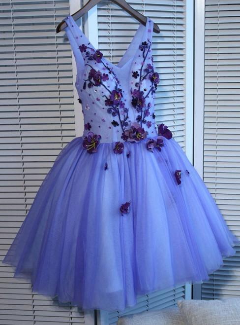 V-neck Short/Mini Prom Dress Juniors Homecoming Dresses A-line Homecoming Dress