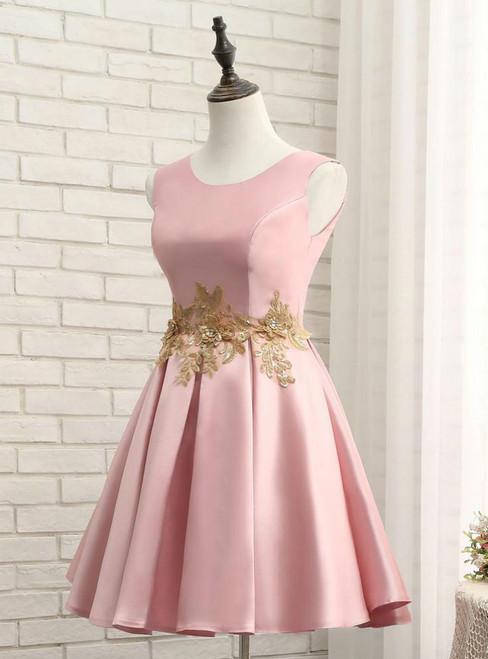 Cheap 2017 Homecoming Dresses A-line Short Prom Dress Appliques