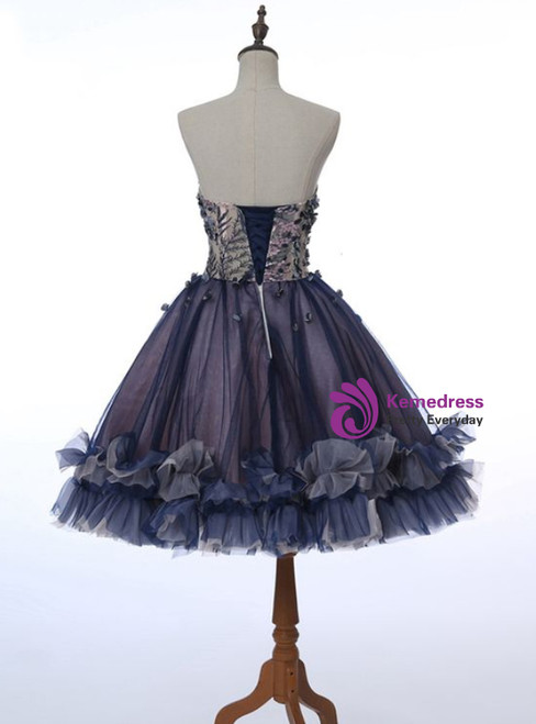 Sweet Heart Homecoming Dress Applique Junior School  Dress Graduation Dress Sleeveless