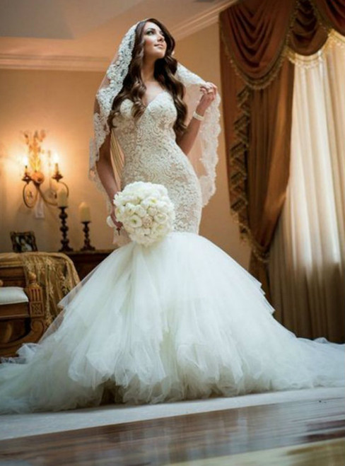 Gorgeous Wedding Dresses,Sheath Mermaid Wedding Dresses