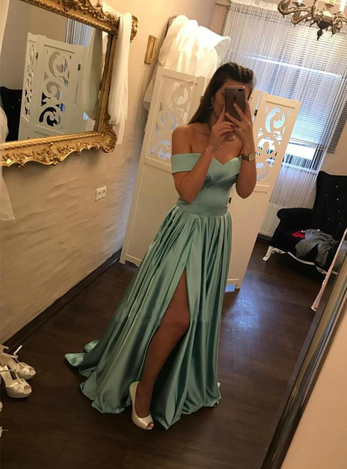 Simple Prom Evening Dress Custom Made Prom Dresses 2018