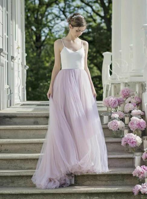 Women's Sexy V Neck Spaghetti Strap A line Wedding Dresses Bridal