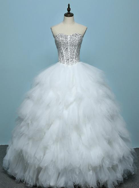 2017 Fashion Wedding Dress Sexy High Quality Feather Princess Wedding Gown