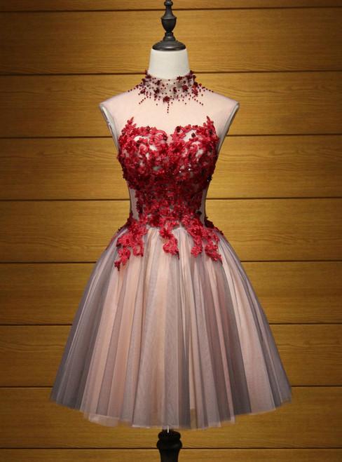 f960fe611f1 A-line Homecoming Dress Short Mini Prom Dress Juniors Homecoming Dresses