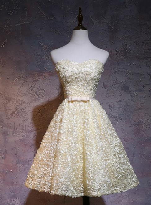 A Line Sweetheart Neck Homecoming Dresses Sleeveless Mini Dresses