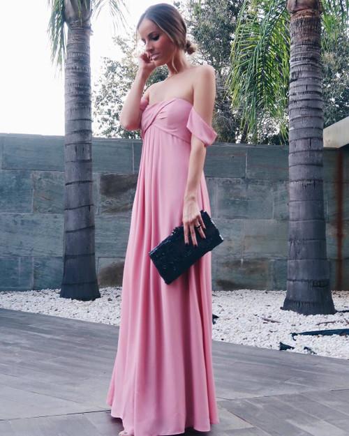 Chiffon Sweetheart Off Shoulder Prom Dresses Long 2018