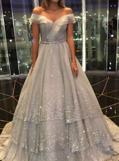 Prom Dresses 2018 Cheap Sparkly Prom Dress A Line Prom Dress