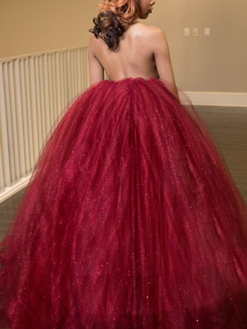 A-line Halter Neck Burgundy Sleeveless Sexy Backless Dresses