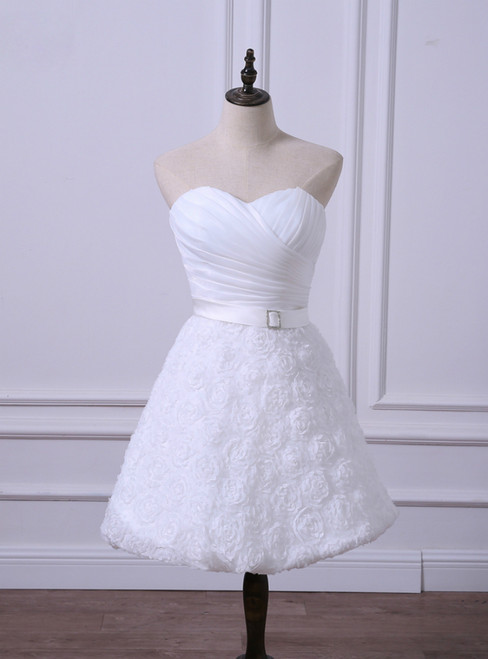 Hot Sale Short Wedding Reception Dresses Cheap Whiteivory Bridal Gown