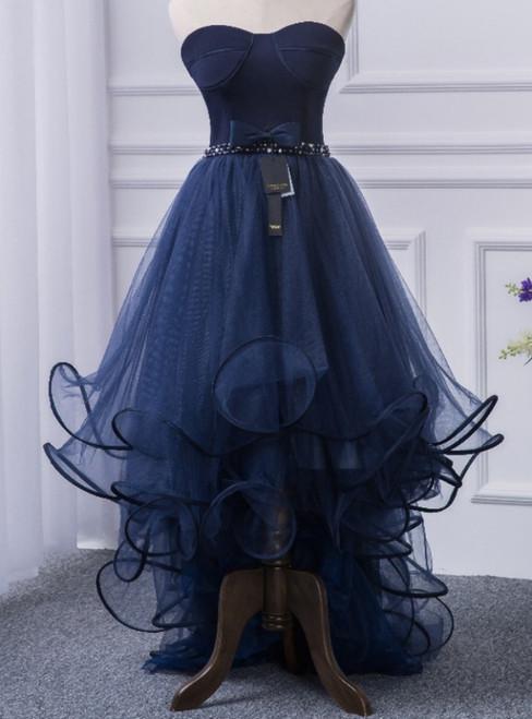 A blue ocean dress for a long ball gown a formal part of a silk dress
