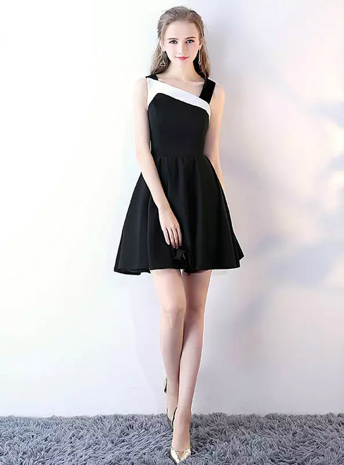 Cute Sleeveless Junior School Dress Knee-Length Homecoming Dress