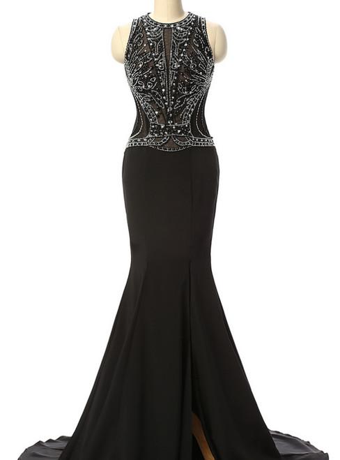 Mermaid Beaded Prom Dresses Long Formal Dress Ever Pretty