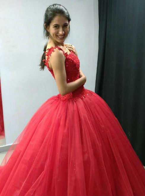 Lace Up Lace Appliqued Prom Dresses for Bride dresses