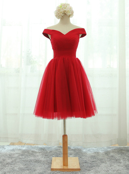 Lace-up Homecoming Dresses Red Party Dresses Short Prom Dresses