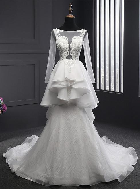 Wonderful Mermaid Wedding Dresses 2017 New Lace Sweetheart Wedding Dress