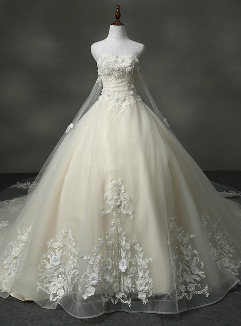 Stylish Wedding Dress Sweetheart With Appliques Ball Gown Wedding Dresses