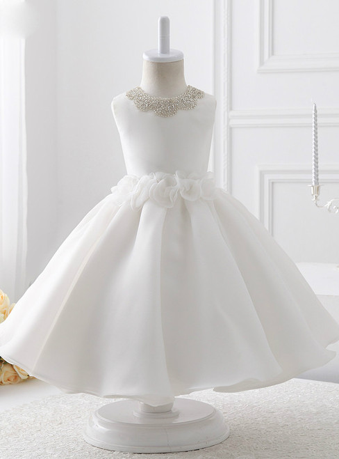 2017 communion dresses flower girl dress Ball Gown Satin