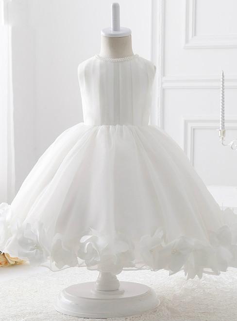 2017 New Fashion Ball Gown Organza flower girl dress