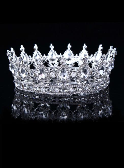 European Designs Vintage Peacock Crystal Tiara Wedding Crown Bridal