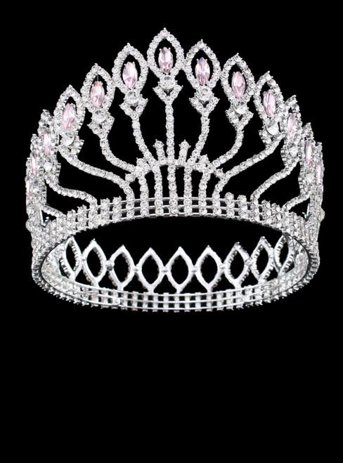 Big Rhinestone Prom Princess Crown Crystal Bride flower Tiara Bridal