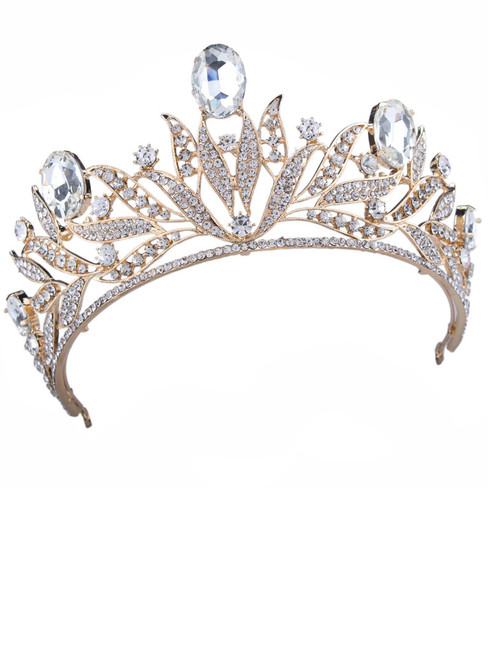 Wedding Bridal Crystal Tiara Crowns Princess Queen Pageant Prom Rhinestone Tiara