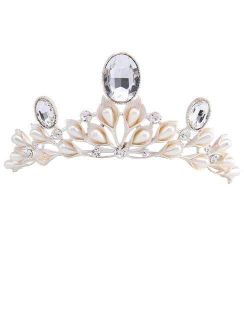Wedding Tiara Hair Accessories Calla Shape Rhinestone