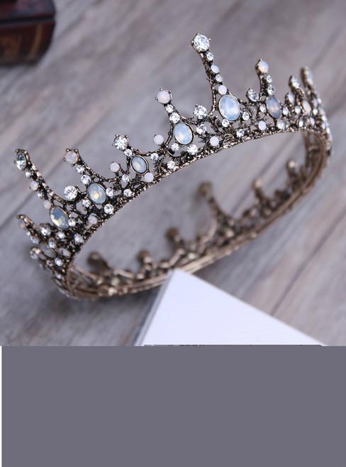 Princess Round Bridal tiara Crown Bride Women Wedding