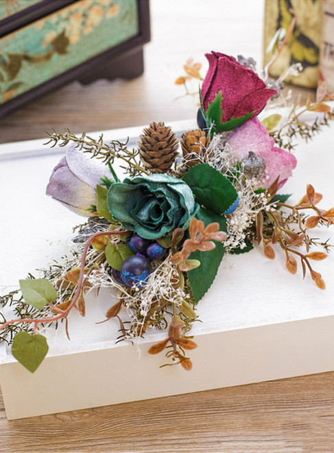 Artificial Flowers Hair Accessory Pine Nuts Bouquet DIY Wreath Wedding