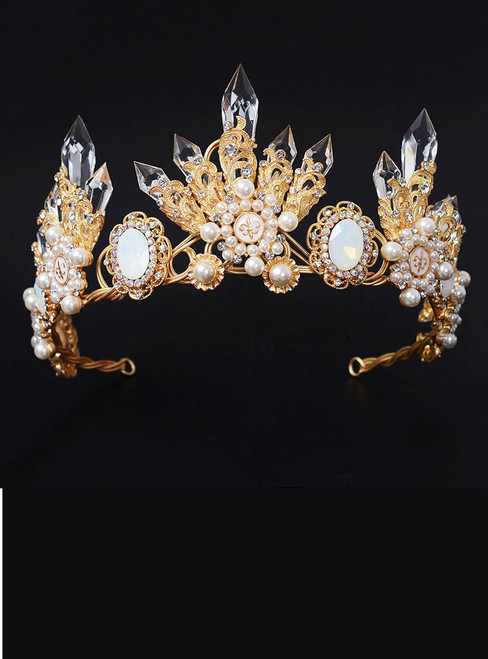 Wedding Bridal Crystal Tiara Crowns Queen Pageant Prom Rhinestone