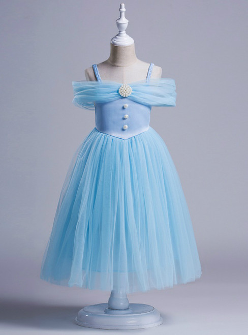 2017 Girl dress For Girl Tulle pearl Infant Toddler Pageant