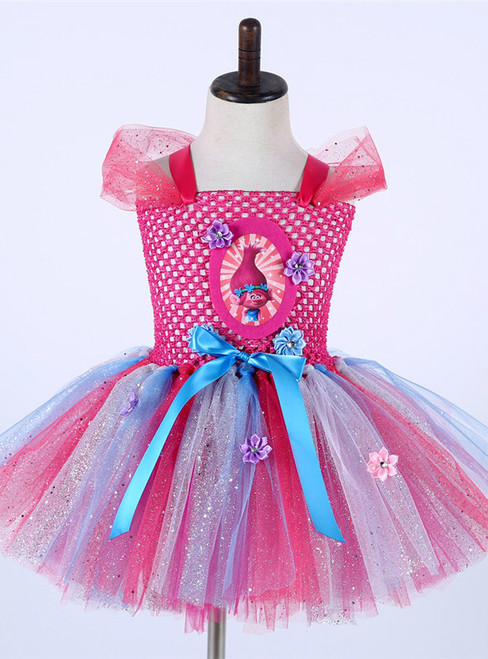 Baby Girl Tulle Princess Dress Kids Halloween Cosplay Costume Girl