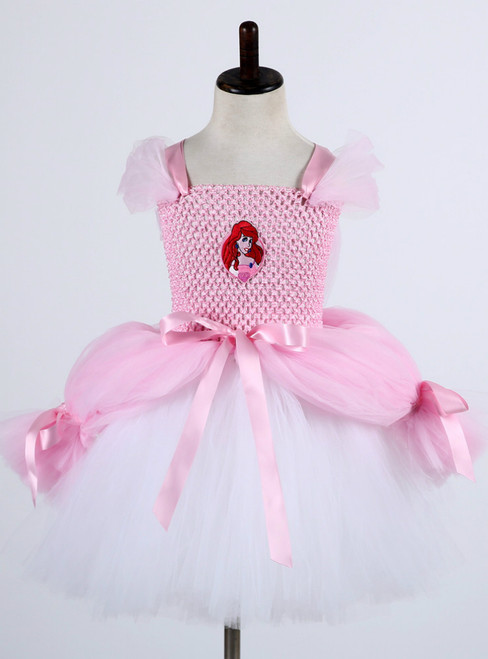 40506269abff Pink Princess Baby Girl Birthday Party Tulle Dresses Kids Cosplay ...