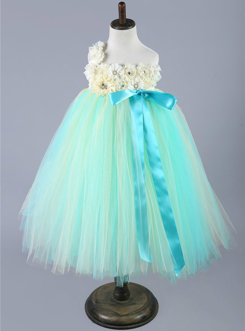 Pink Green Baby Girls Tulle Dress Children Pageant Party Wedding Birthday