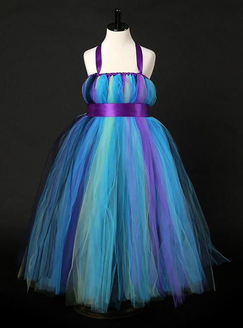 Girl Halloween Costume For Kids Wedding Birthday Photograph Party Elegant Tulle