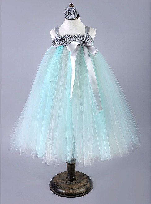 Tulle Wedding Flower Girl Dress Kids Pageant Birthday Bridesmaid Party Gown Dresses