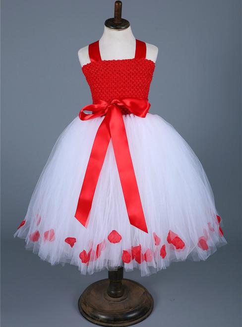 Girls Christmas Dress Clothes Kids Flower Petals Xmas New Year Tutu Dress Baby