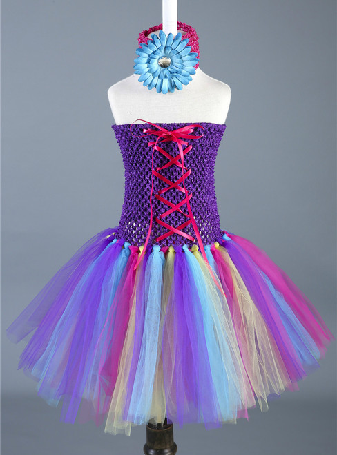 Pumpkin Festival Cosplay Halloween Costume Children Carnival Performance Tulle Girls Dress