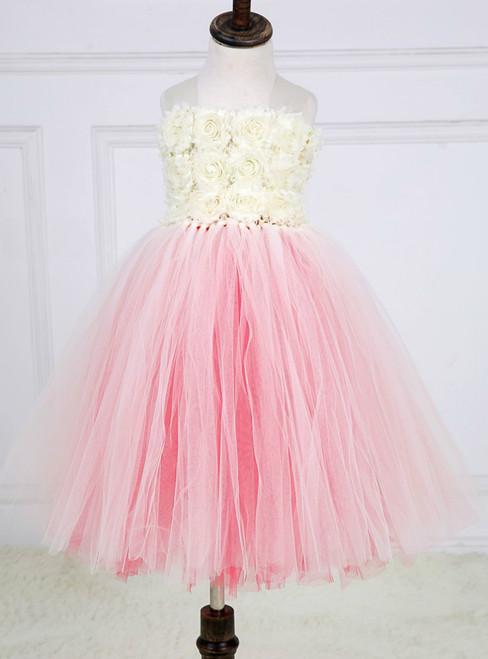 Tulle Girls Dress Princess Kids Flower Girl Dresses Children Girl Wedding Party Pageant