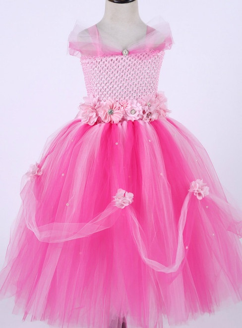 Girl Princess Dress Tulle Tutu Dress Baby Girl Newborn Infant Wedding Party Ball Gown